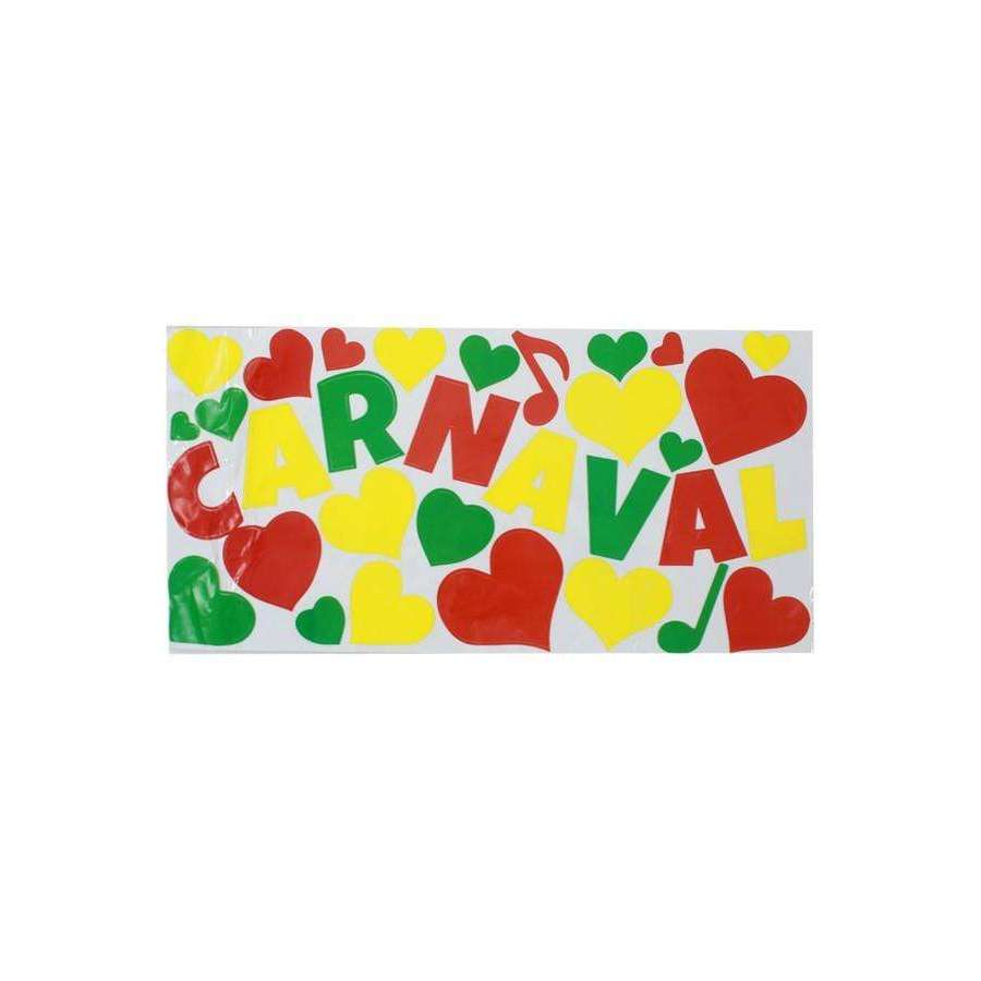 Adhesive carnaval mix rood/geel/groen,Boxes