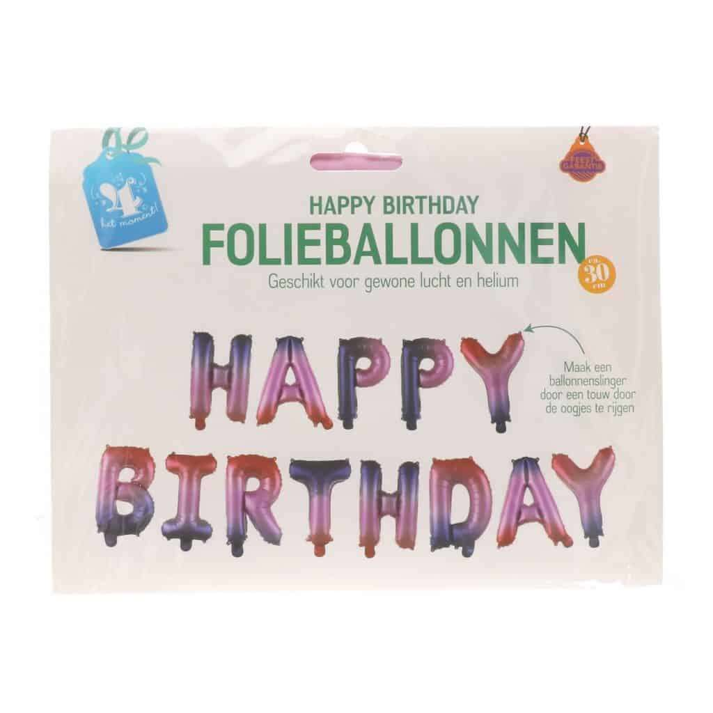 Happy birthday folieballonnen #814