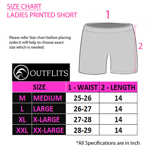 Outflits Ladies Printed Shorts
