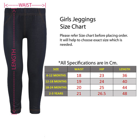 Outflits Jegging Full Size Chart