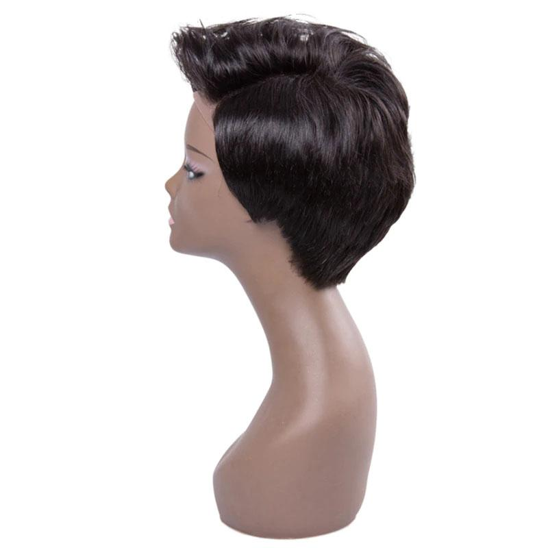 Human Hair Pixie Wigs Short Pixie Cut Wigs 13x4 Straight Non-Remy Hair Pixie Wigs for Black Women - Truelovewigs.com