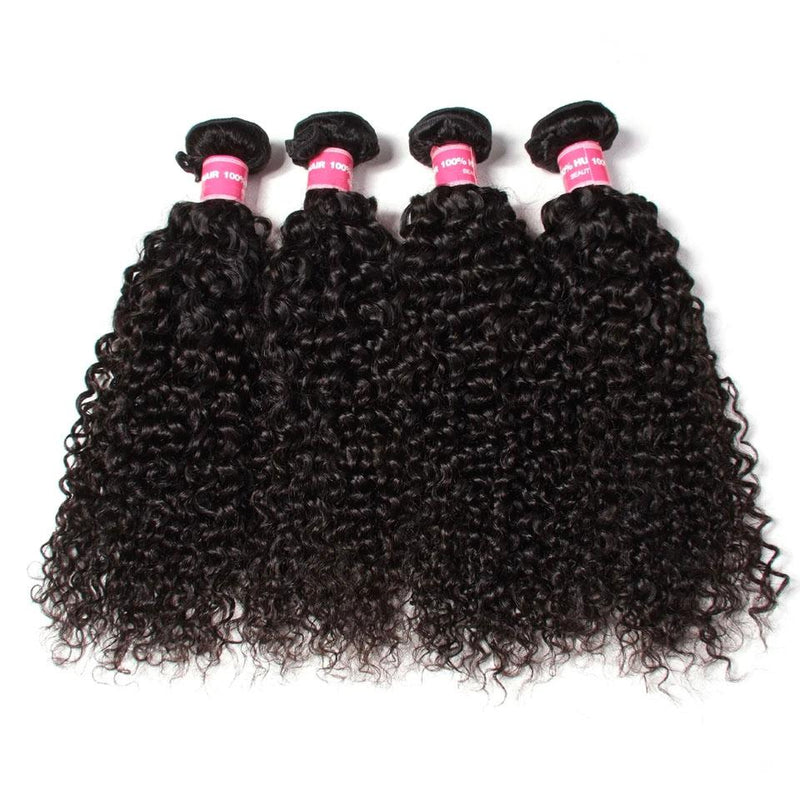Curly Hair 4 Bundles With 13*4 Lace Frontal Human Virgin Hair Extension - Truelovewigs.com