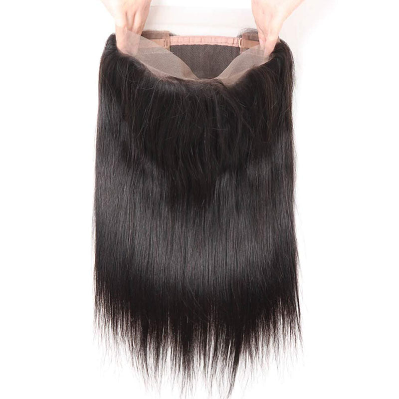 360 Swiss Lace Frontal Straight Frontal 100% Human Hair 10A Closure Frontal 360 150% Density - Truelovewigs.com