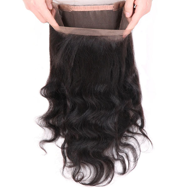 360 Lace Frontal Body Wave Frontal 100% Human Hair Lace Frontal Weave 150% Density Natural Color - Truelovewigs.com