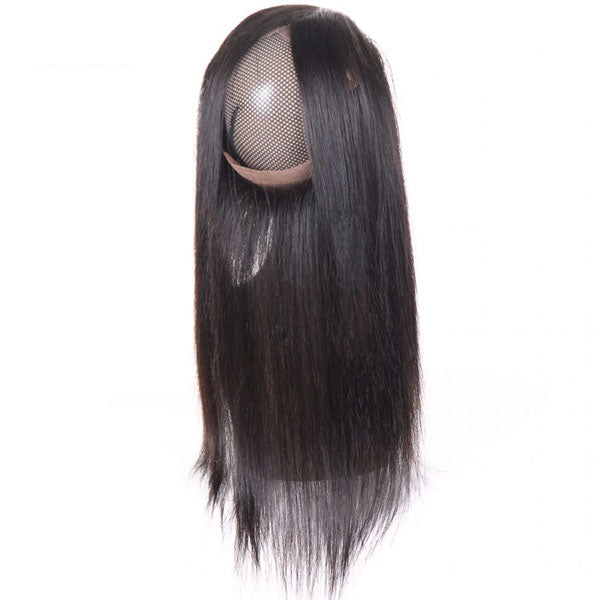 360 Lace Frontal Straight Frontal 100% Human Hair Lace Frontal Weave 150% Density Natural Color - Truelovewigs.com