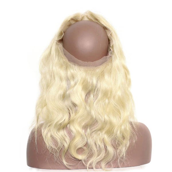 360 Lace Frontal Body Wave Frontal 100% Human Hair #613 Lace Frontal Weave 150% Density Natural Color - Truelovewigs.com