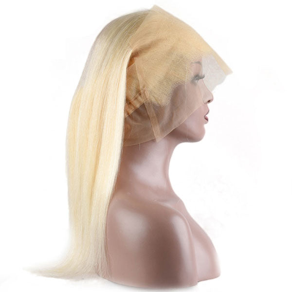 360 Lace Frontal 613 Frontal Straight 100% Human Hair Lace Frontal Weave 150% Density Natural Color - Truelovewigs.com