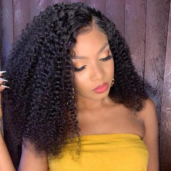 360 Lace Wig Human Hair Pre Plucked With Baby Hair 100% Human Remy Hair Curly Wave Wig - Truelovewigs.com