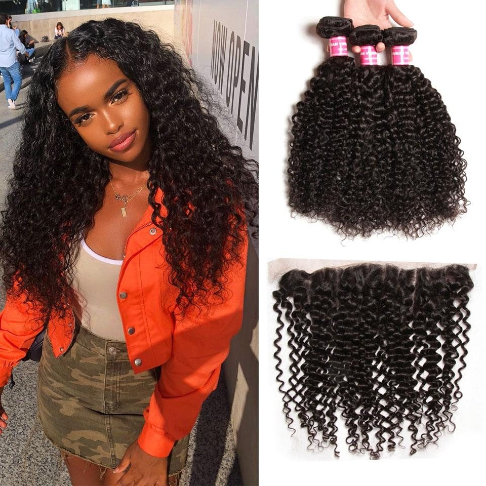 True Love Curly Hair 3 Bundles With 13*4 Lace Frontal 100% Human Hair - Truelovewigs.com