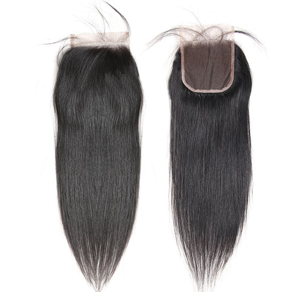 4x4 Lace Closure Middle Part Straight Closure 100% Human Hair Lace Closure Natural Color - Truelovewigs.com