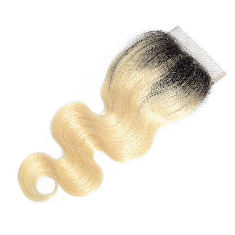 True Love Wigs 4*4 Lace Closure 100% Human Body Wave #613 Hair Closure Free/Middle/Three Part - Truelovewigs.com