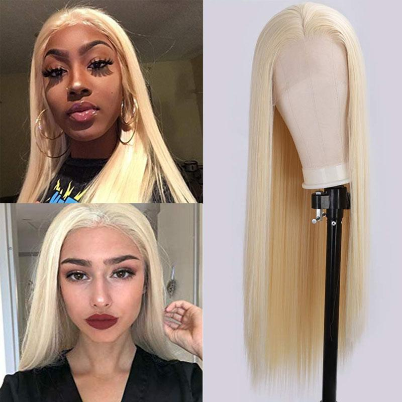 613 Full Lace Wig Straight Blonde Lace Wig Human Hair for Black Women - Truelovewigs.com