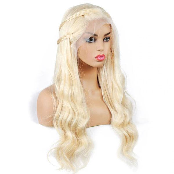 613 Full Lace Wig Human Hair Body Wave 613 Blonde Wig for Black Women With Baby Hair - Truelovewigs.com