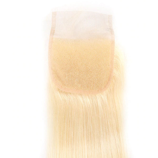 Blonde Lace CLosure 613 Straight 4x4 Blonde Closure 100% Human Hair 150% Density Natural Color - Truelovewigs.com