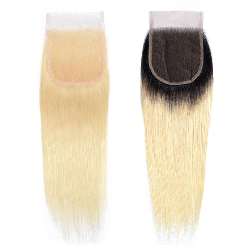 True Love Wigs 4*4 Lace Closure 100% Human Straight #613 Hair Closure Free/Middle/Three Part - Truelovewigs.com