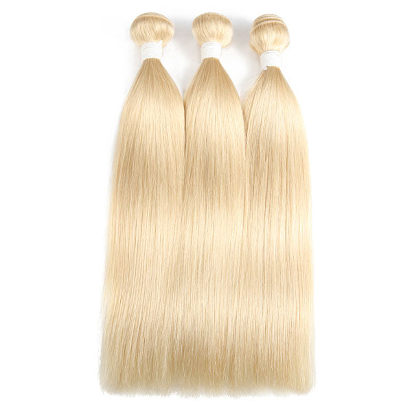 3 Bundles of Hair Straight Bundles Cheap 613 Bundles 100% Human Hair Blonde Weave Brazilian Hair Bundles - Truelovewigs.com
