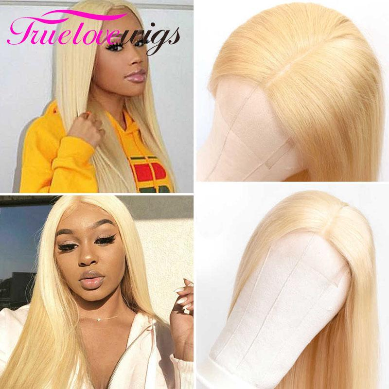 Straight 613 Blonde Wig 13x4 Lace Front Wigs Human Hair Wigs for Black Women With Baby Hair - Truelovewigs.com