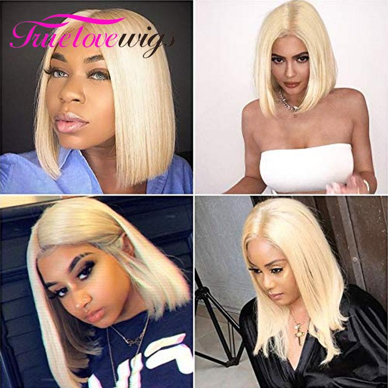 613 Bob Wig 13x4 Straight Human Hair Short Wigs Bob Lace Front Wigs for Black Women - Truelovewigs.com
