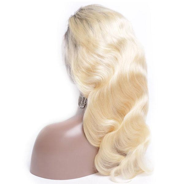 613 Full Lace Wig Human Hair T1b/613 Body Wave Human Hair Wigs for Black Women With Baby Hair - Truelovewigs.com
