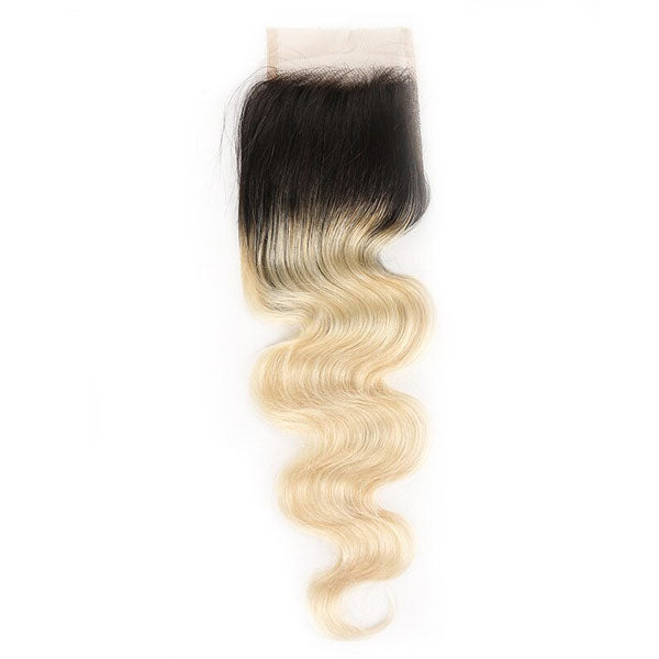 Blonde Lace CLosure 613 Body Wave 4x4 Blonde Closure 100% Human Hair 150% Density Natural Color - Truelovewigs.com