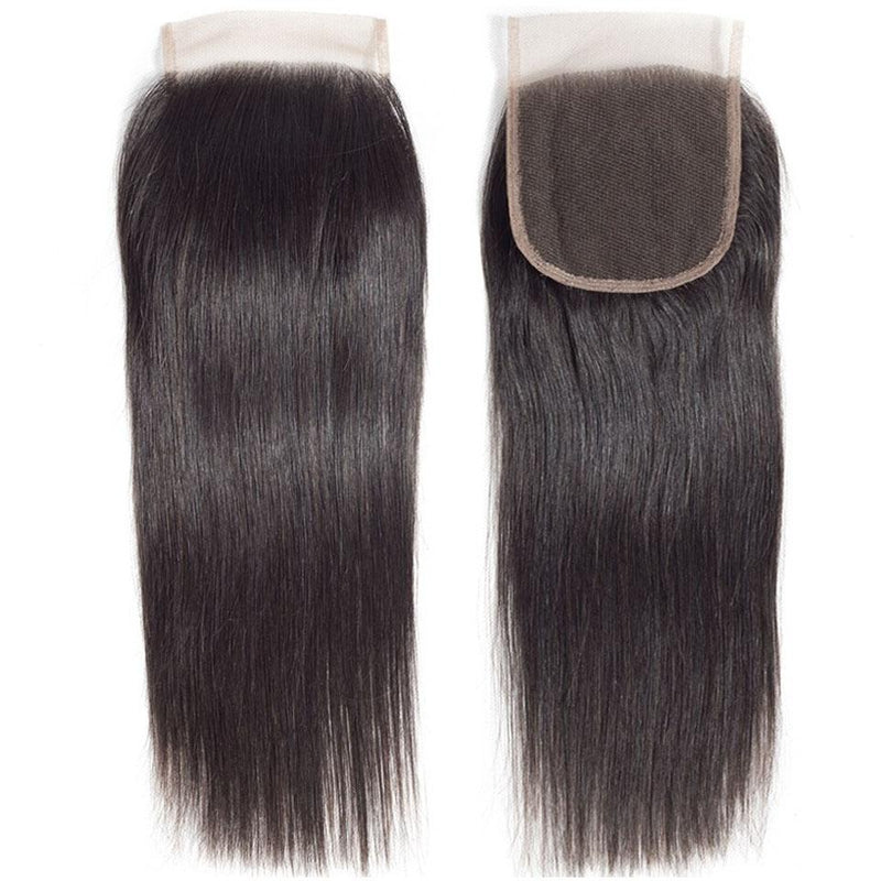 Straight Hair 4 Bundles With 4*4 Lace Closure Human Virgin Hair Extension - Truelovewigs.com