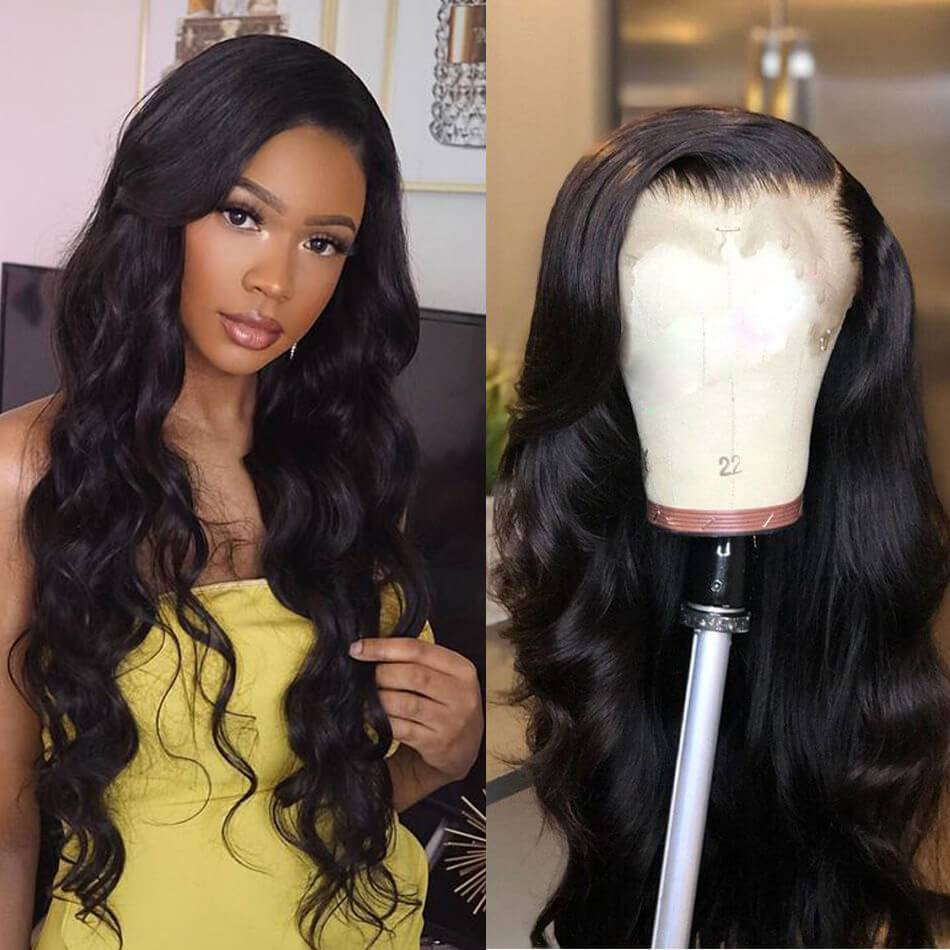 Glueless Lace Front Wigs Human Hair with Baby Hair 13x4 Pre Plucked 10A Body Wave Human Hair Wig - Truelovewigs.com
