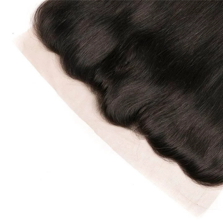 13x4 Brazilian Lace Frontal Straight Frontal 100% Human Hair Lace Frontal Weave 150% Density Natural Color - Truelovewigs.com