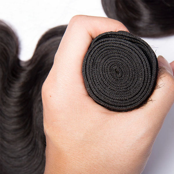 360 Frontal and Bundles 10A Top Quality 2 Bundles and a Frontal Body Wave 100% Human Hair Natural Color - Truelovewigs.com