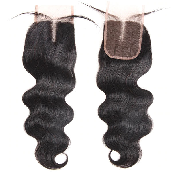 4x4 Lace Closure Middle Part Body Wave Closure 100% Human Hair Lace Closure Natural Color - Truelovewigs.com