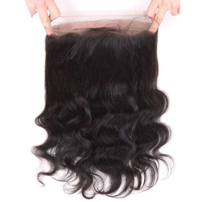 Swiss 360 Frontal Closure Body Wave Frontal 100% Human Hair 10A High Quality 150% Density - Truelovewigs.com
