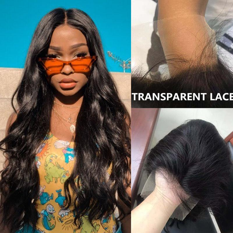 10A Transparent Lace Front Wigs Human Hair with Baby Hair 13x4 Pre Plucked Body Wave Human Hair Wig - Truelovewigs.com