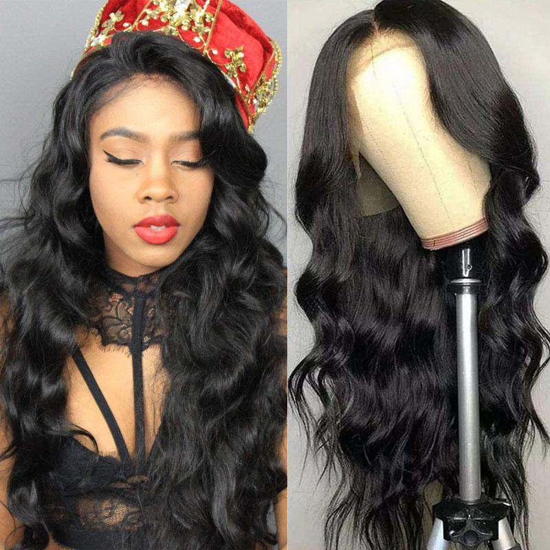 Human Hair Lace Front Wigs 13x6 Pre Plucked With Baby Hair 100% Human Hair Body Wave Wig - Truelovewigs.com