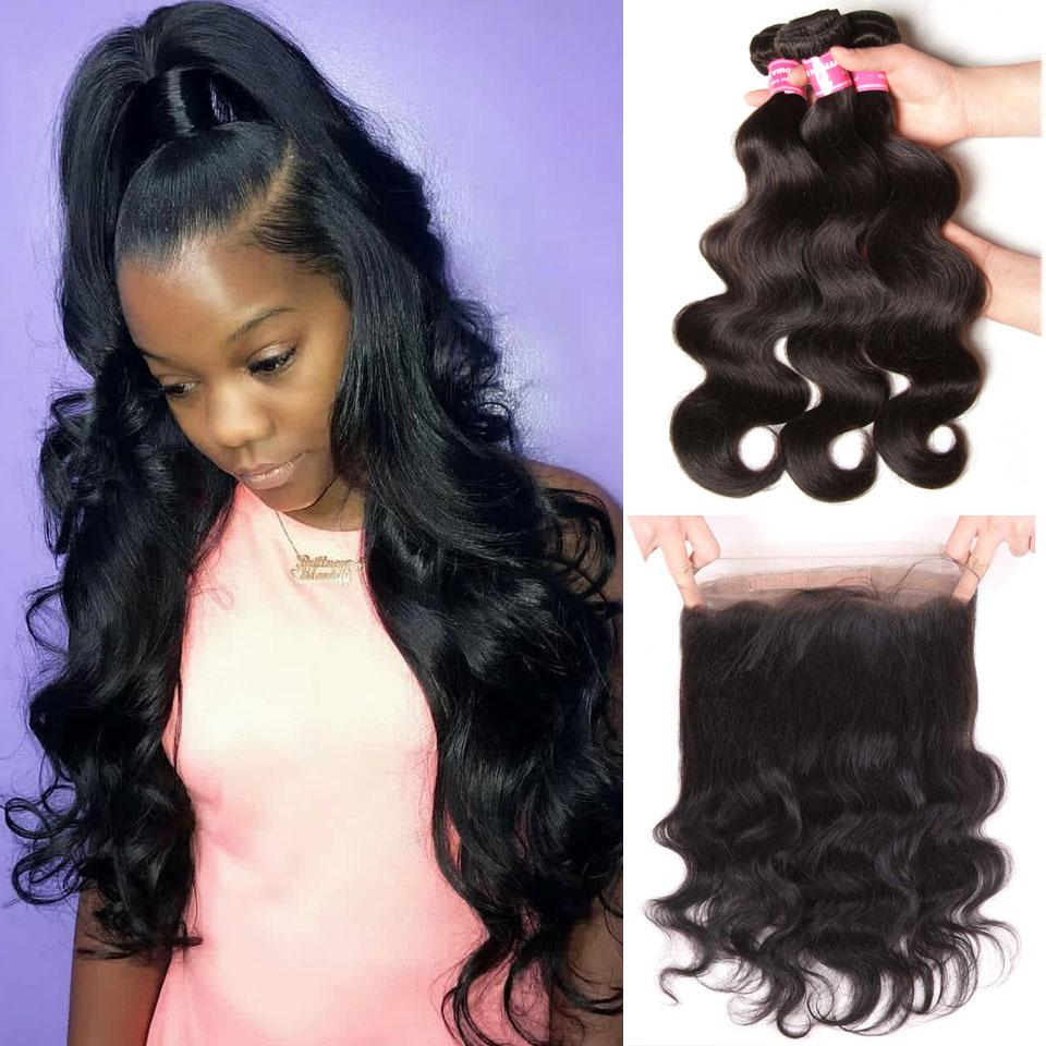 True Love Wigs Body Wave Hair 3 Bundles With 360 Lace Frontal 10A Grade - Truelovewigs.com