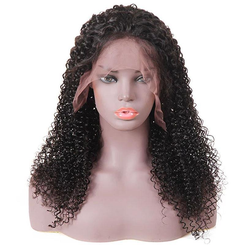 Transparent Lace Front Human Hair Wigs with Baby Hair 13x6 Pre Plucked 10A Curly Human Hair Wig - Truelovewigs.com