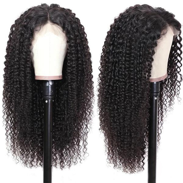 Human Hair Lace Front Wigs Pre Plucked Hairline 13x4 With Baby Hair Curly Wigs - Truelovewigs.com