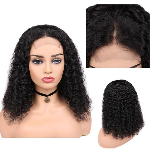 Lace Closure Human Hair Wigs with Baby Hair 4x4 Pre Plucked Curly Human Hair Wig - Truelovewigs.com