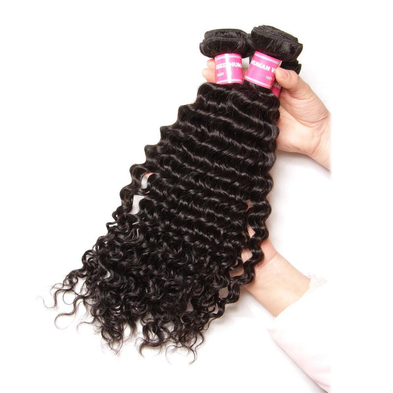 True Love Deep Wave Hair 3 Bundles With 13*4 Lace Frontal 100% Human Hair - Truelovewigs.com