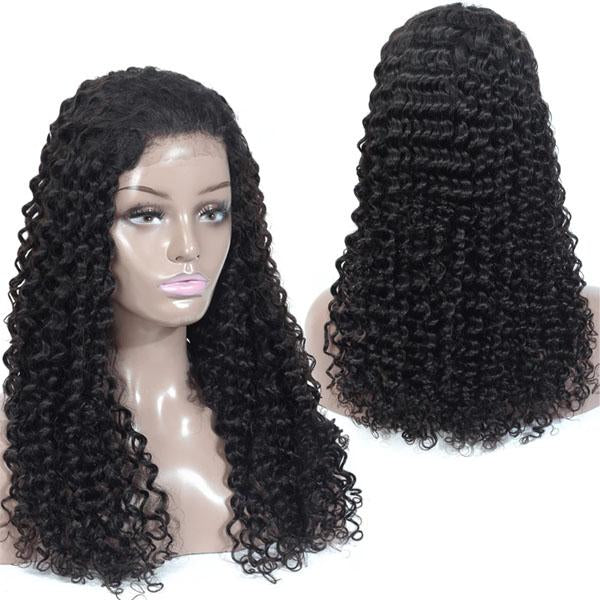 360 Lace Frontal Wig Pre Plucked With Baby Hair 100% Human Remy Hair Deep Wave Wig - Truelovewigs.com
