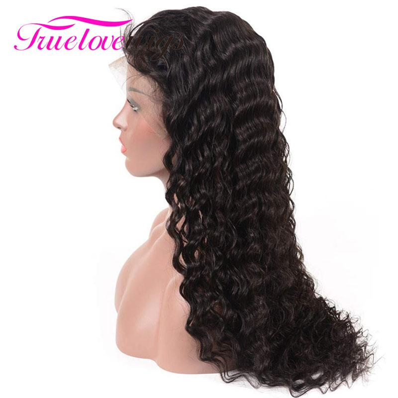 Transparent Lace Front Wigs 100% Human Hair Wigs Pre Plucked Hairline 13x6 With Baby Hair Deep Wave Wig - Truelovewigs.com