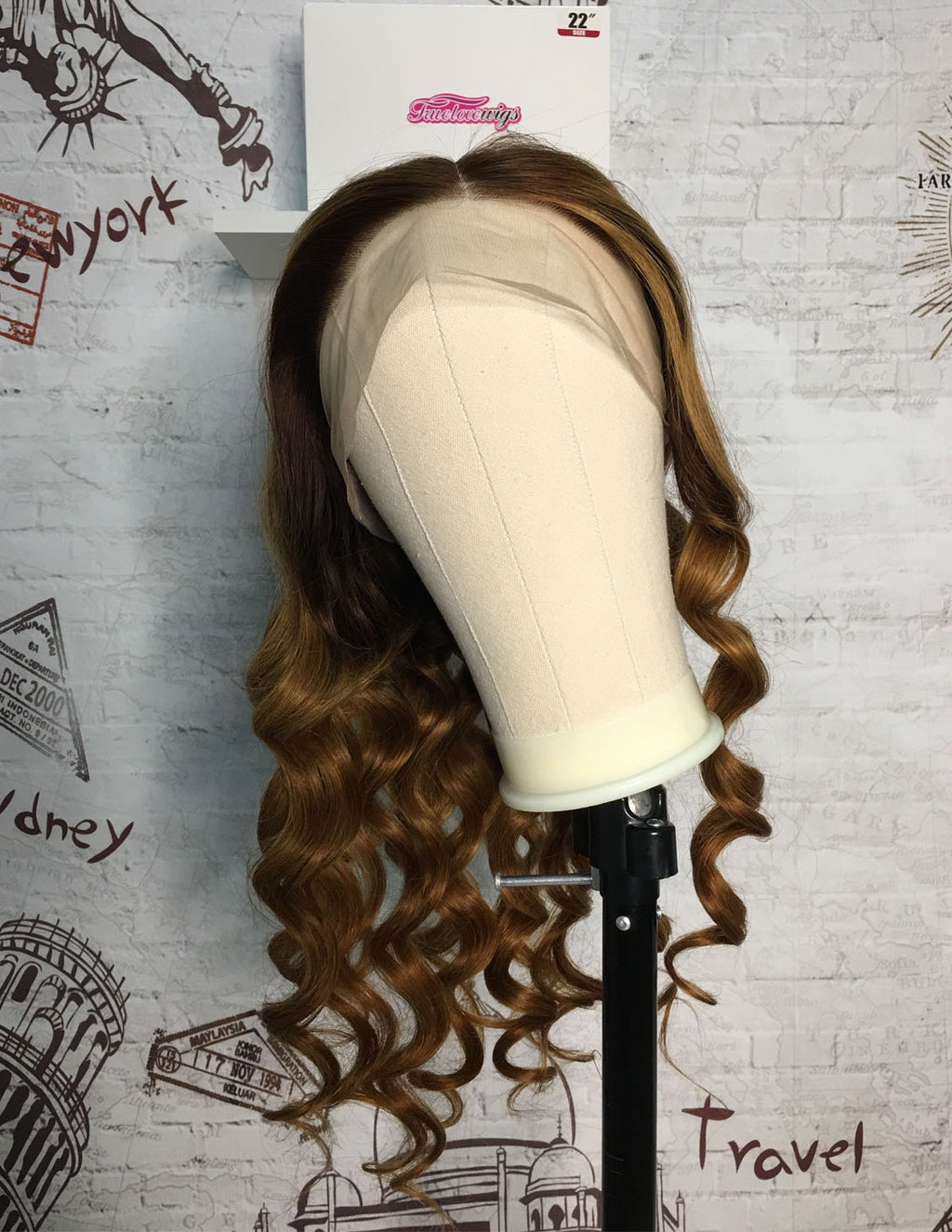Mix Color 10A Grade Human Hair Body Wave Wig The Same As The Hairstyle and Color In The Picture Shown - Truelovewigs.com