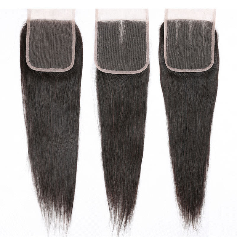 Lace Closure Straight Lace Closure 10A 100% Human Hair 4x4 Closure Pre Plucked Closure with Baby Hair - Truelovewigs.com
