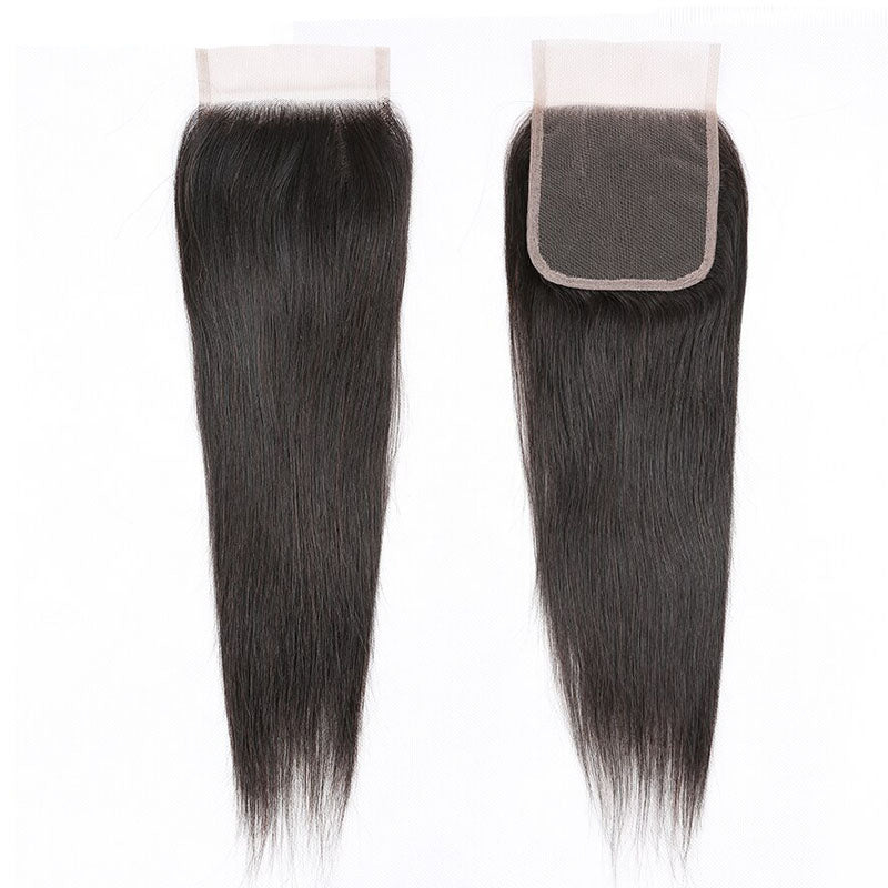 Hd Lace Closure Straight Lace Closure 10A 100% Human Hair 4x4 Closure Pre Plucked Closure with Baby Hair - Truelovewigs.com