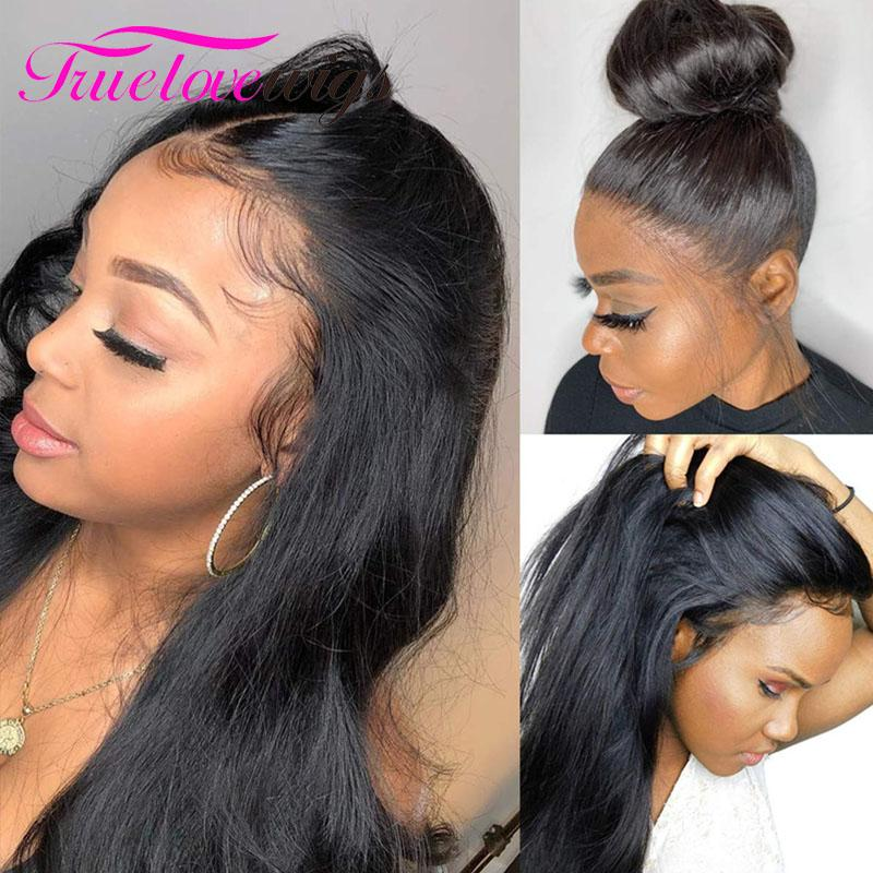 Transparent Lace Front Wigs Human Hair with Baby Hair 13x6 Pre Plucked 10A Straight Human Hair Wig - Truelovewigs.com