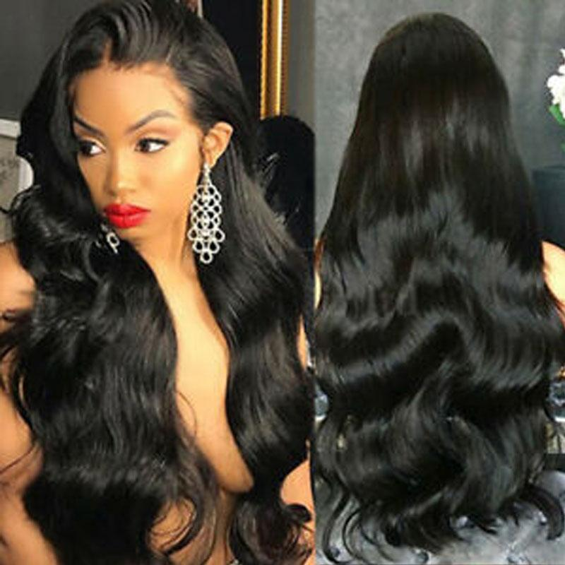 Long Human Hair Wigs Body Wave Hair 100% Remy Hair 10a Long Wigs 13x4 Lace Front Wigs - Truelovewigs.com