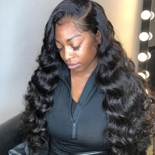 360 Lace Wig Human Hair Pre Plucked With Baby Hair 100% Human Remy Hair Loose Deep Wave Wig - Truelovewigs.com