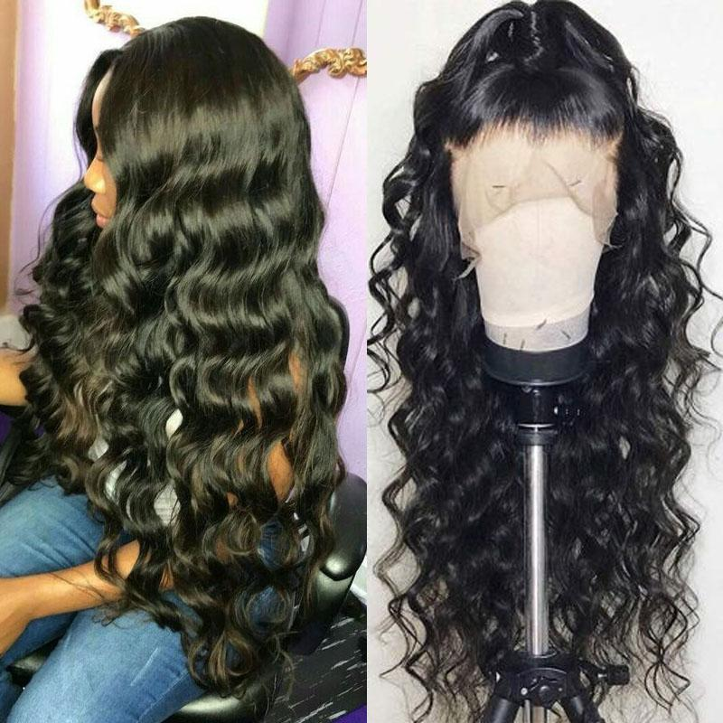 Transparent Lace Wigs Human Hair with Baby Hair 13x6 Pre Plucked 10A Loose Deep Wave Human Hair Wig - Truelovewigs.com