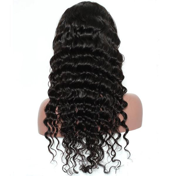 Human Hair Lace Front Wigs Pre Plucked Hairline 13x4 With Baby Hair Loose Deep Wave Wig - Truelovewigs.com