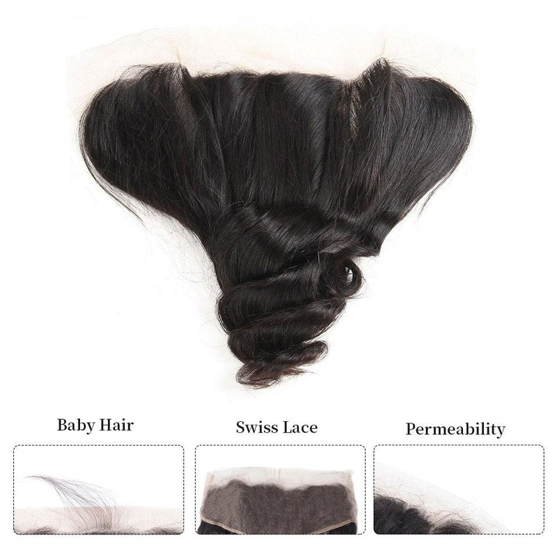 True Love Loose Wave Hair 3 Bundles With 13*4 Lace Frontal 100% Human Hair - Truelovewigs.com