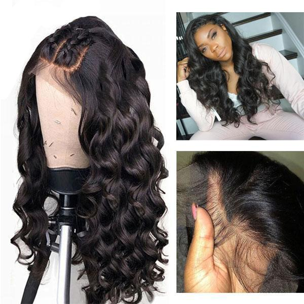Pre Plucked 360 Lace Wig With Baby Hair 100% Human Remy Hair Wig Loose Wave Wig - Truelovewigs.com