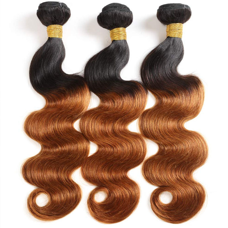 3 Bundles of Ombre Weave Best 1b 30 Hair Body Wave 10A High Quality Hair Bundles 100% Human Hair - Truelovewigs.com